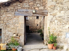 <h5>Entrada al pati</h5><p>Entrada al pati interior de Les Vinyes</p>
